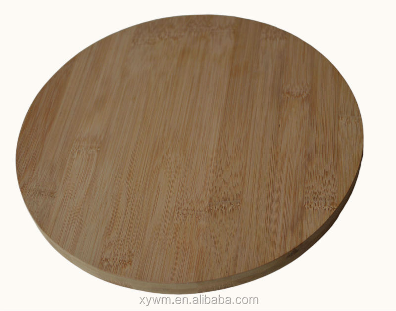Enduring Round Natural Original Bamboo Wooden Cutting Board Pizza Food Preparation Table