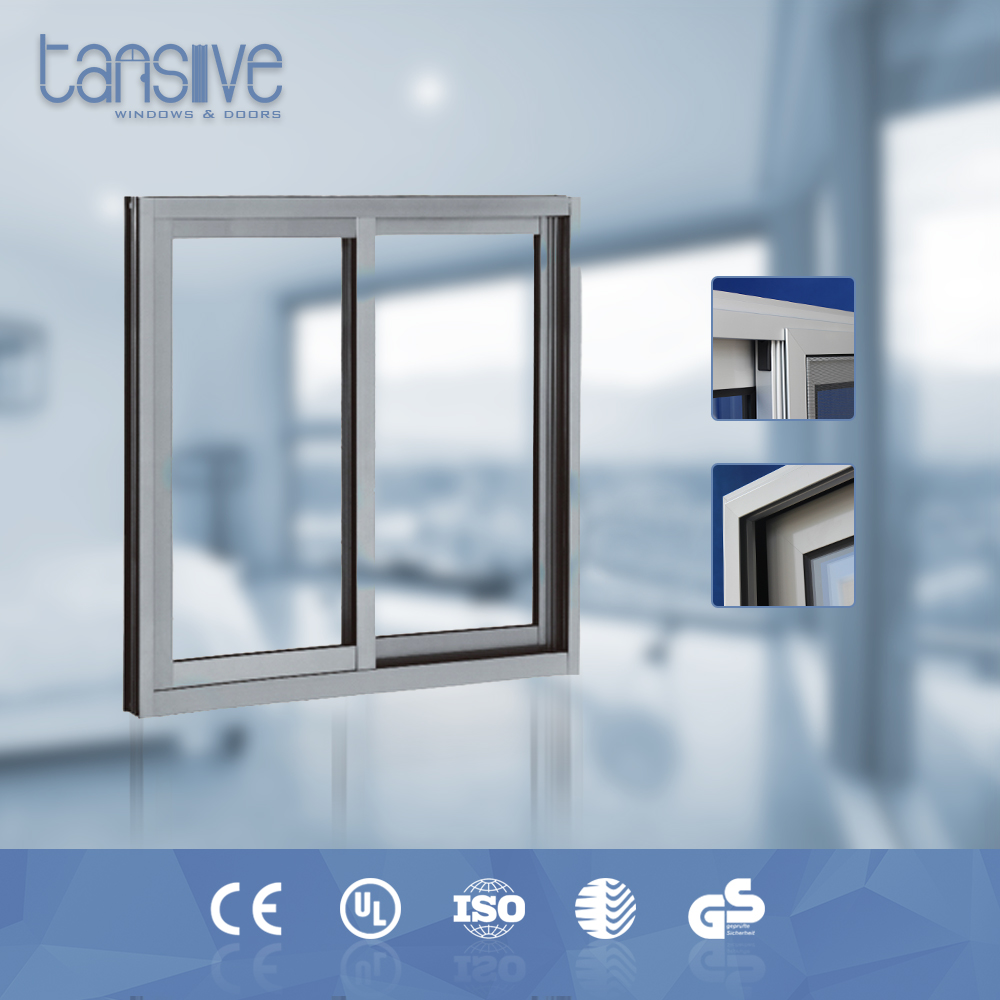 Tansive construction windproof pvc sliding screen windows