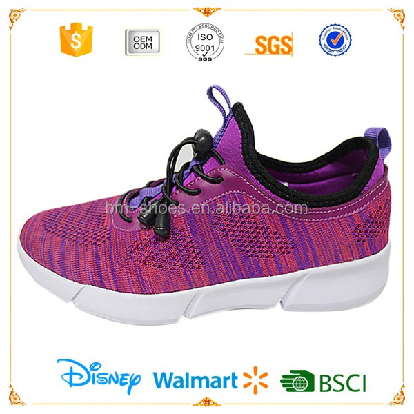 Latest models ladies sport sneakers flyknit running shoes