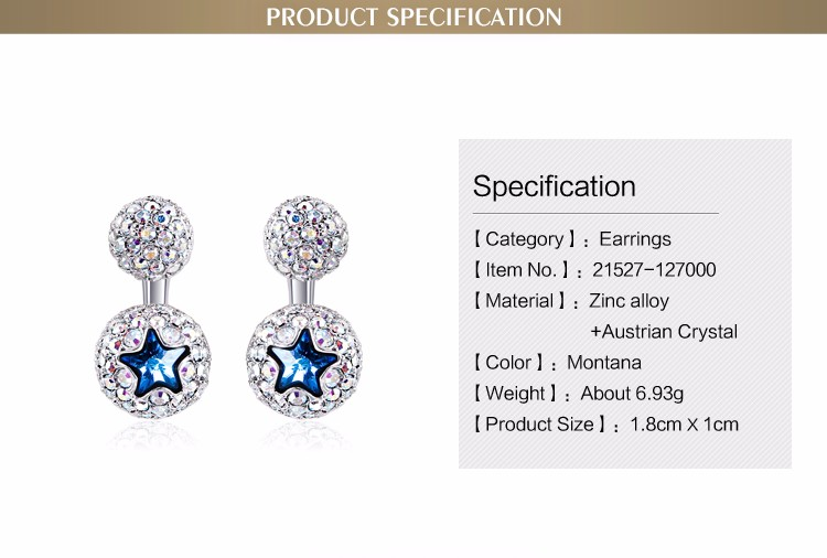 Wholesale 18K rhodium plated zinc alloy stud earrings ball shape pave zircon jewelry cheap fancy earrings