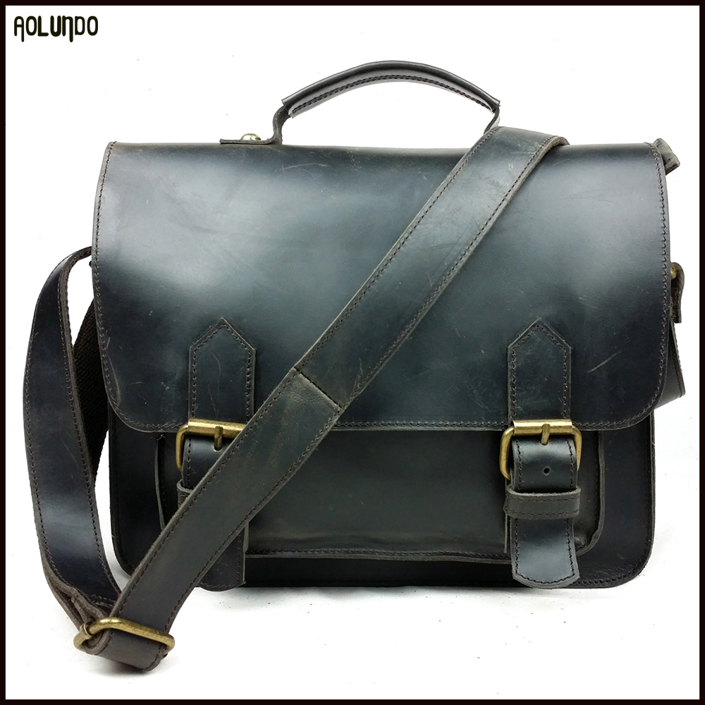 New custom factory genuine mens real trend leather handbag shoulder bag