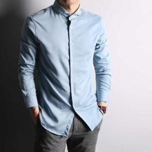 Bright silk slim fit dress shirts and silk/cotton mens shirts