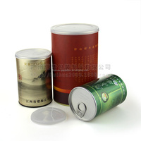 PP Plastic Plug , Aluminum Easy-open Lid For Black Tea Packaging Paper Composite Can