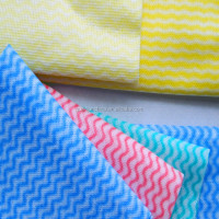 meshed and waved spunlace nonwoven fabric
