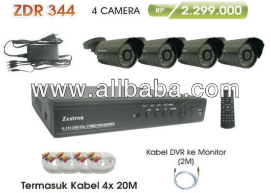 CCTV Makassar: Package 4 cameras, DVR, Cable, Price: 2jutaan Rupiah