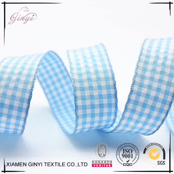China top sale holiday delicate tartan decorative ribbon gift