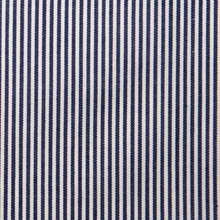 Luthai Textile NOS 100% cotton dark blue white stripe yarn dyed woven man shirt fabric