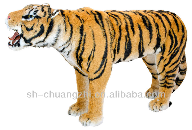 cuddly lively GIANT Asia King Roaring Tiger Plush toys