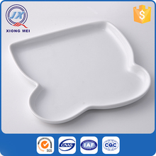Personalized white bread shaped porcelain bakeware plate