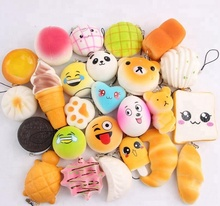 personalised kawaii custom slow rising pu foam new squishy licensed japan wholesale animals soft squishy keychain for children