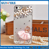 Factory wholesale 3D Bling Ballet girl peacock diamond case for iPhone 4 /4s