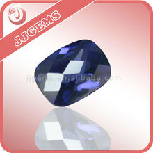 Chinese wholesale precious rectangle violet cz gems stone for jewelry