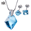 ODM OEM fashion 925 sterling silver jewelry factory custom crystals from Swarovski elements necklace and earrings set
