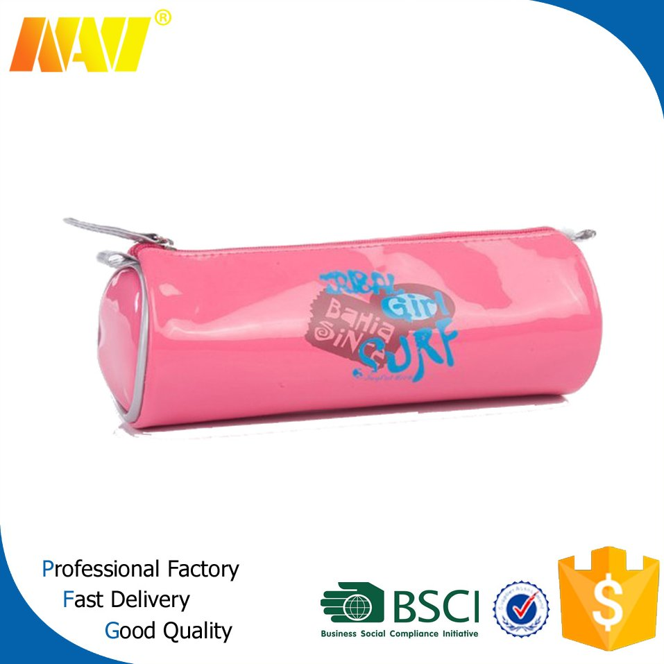 cheap promotional PU leather zipper pencil case