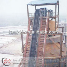 vertically belt transporting machinery for coal and wood-chip fired power stations