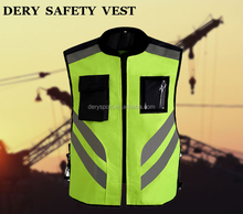 DERY Reflective flashing led safety vest Class 3 2015