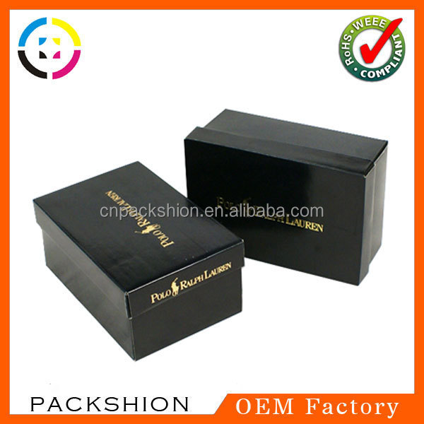 Large Custom Logo Cardboard Shoe Box