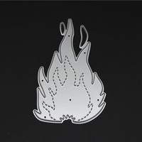 Y404 Flame Shape Carbon Metal Cutting Dies Hot Selling Scrapbooking Craft