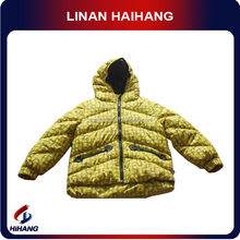 china high quality boy's ski goose down jacket sleeve hem velcro baby clothes supplier