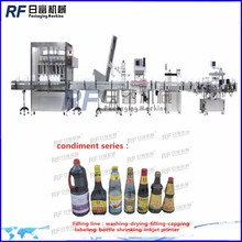 energy effcient bottle olive oil washing / filling / capping line