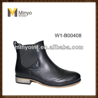 Minyo lady shoe new model ankle boots with elastic for woman