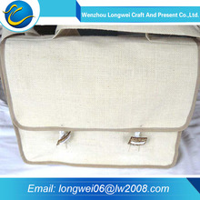 Natural color promotional wholesale shopping recycled jute bag