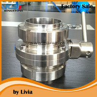 Stainless Steel Butterfly Valve 3 piece butterfly valve