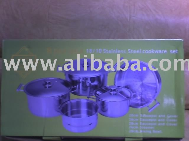 8PCS S/S JETPERWARE COOKWARE