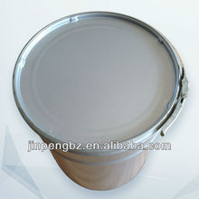round white oil tin drum with lid