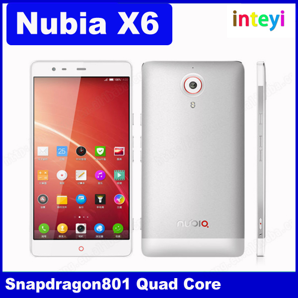 "Original ZTE Nubia X6 2GB+32GB 6.4"" 4G Android 4.3 SmartPhone for Qualcomm Snapdragon 801 MSM8974 Quad Core 2.3GHz OTG NFC"