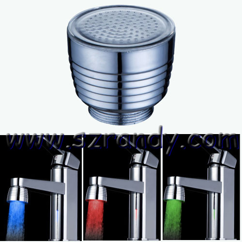 temperature control 3 colors led faucet light without battery