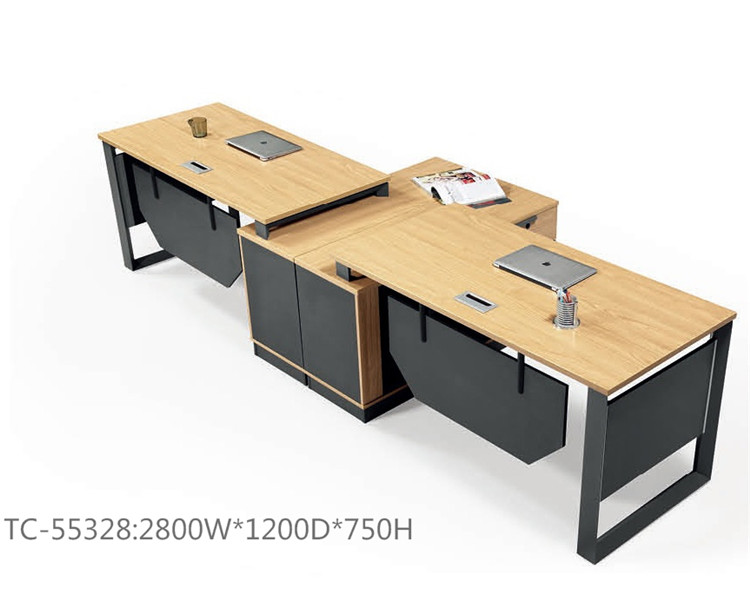 Open office partition table for 2 people