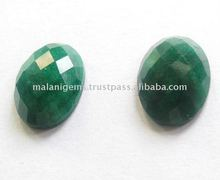 Oval Rose Cut Loose Dyed Emerald