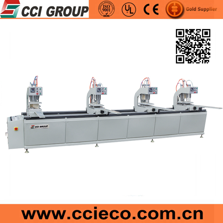 CE certificate upvc windows production 4 heads welding machine
