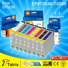 Triple Quality Tests T0540/T0541/T0542/T0543/T0544/T0547/T0548/T0549 Color Ink Cartridge For Epson