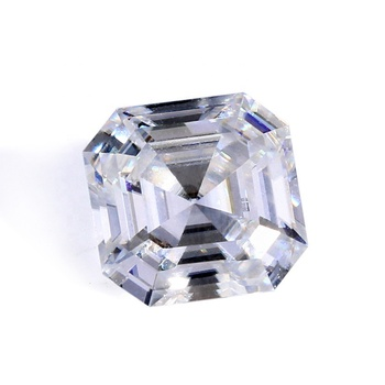 Small size Asscher cut moissanite loose stones VVS1 clarity low diamond price per 1 gram buy gemstone online.