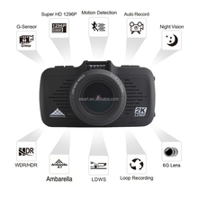 Ambarella Car Dvr FHD 1296p Dashcam In Car Camera Suppot Motion Detection Support Loop Recording
