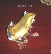 Handmade art glass animals bright colors glass frogs