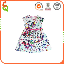 wholesale butterfly print fancy prom frocks 3 year old girl dress