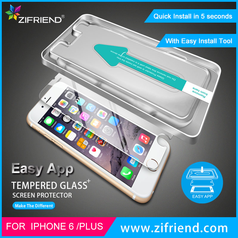 2.5D Best Mobile Tempered Glass Screen Protector Brand with Easy Install Tool for iphone 6s