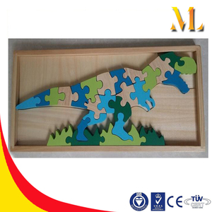 3d puzzle wooden blocks large dinosaur models wooden jigsaw puzzle