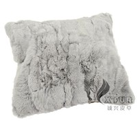 CX-D-27A 50X50cm Handmade Rabbit Fur Cushion Cheap Sofa Cover