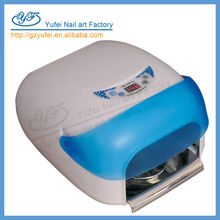 professional powerful hot sale YF-757 36w lamp for drying uv glue with sensor and fan for nail drying