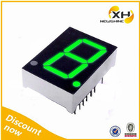 High Birghtness FND Common Anode Single digit Green 1.5 Inch LED Display