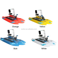 Low price and exciting water bike pedal boats good for health