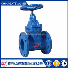 (DIN 3352)Resilient seated cast iron NRS Flanged ends stem gate valves