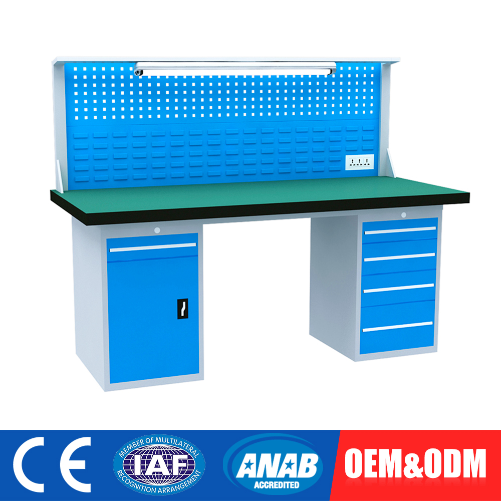 Highest Level Custom Fitted Used Industrial Workbench To Electronic Garage
