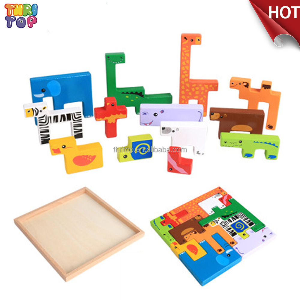 2017 Best-selling Animal 3d Wooden Puzzle,Cheap Kids Wooden 3d Puzzle