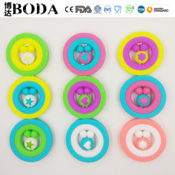 Popular Silicone baby teething toys silicone teething rings