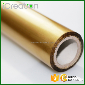 Matte Golden Hot Stamping Foil Aluminum Foil Roll Based on PET for Textile/Clothing/T-Shirt/Fabrics for Wholesale